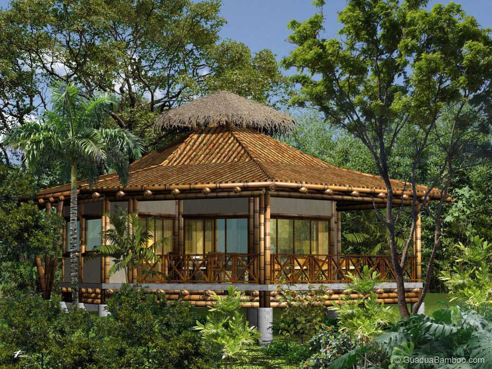 """bamboo house Integrated in the year 2006, at ghaziabad (uttar pradesh, india), we, """"bamboowala"""", are the leading names involved in wholesaling, trading and supplying the best assortment of bamboo pole, bamboo mat, bamboo house, bamboo fence, bamboo ladder, coir rope and bamboo challi."""